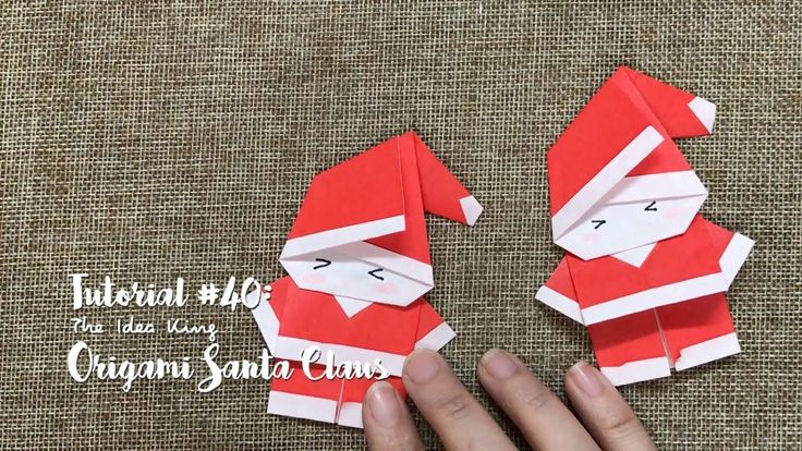 How to Make DIY Origami Santa Claus? | The Idea King Tutorial #40 - YouTube