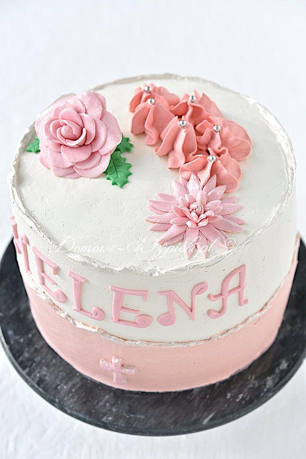 Tort Na Chrzest Dla Dziewczynki Przepis Recipe Cake Birthday Cake Birthday