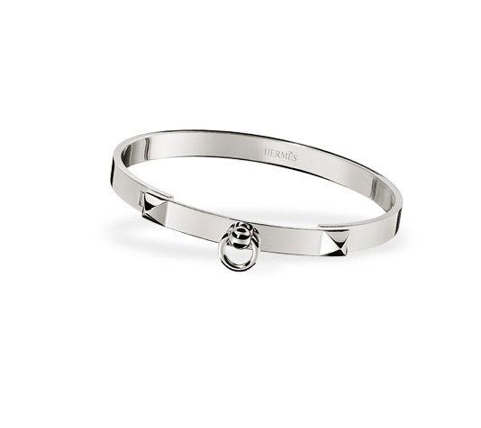 Collier de Chien Hermes bracelet, PM size, 18kt white gold ...
