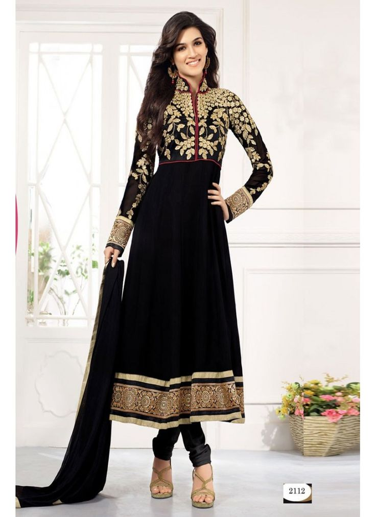 StyleFunia Exclusive Designer Black Long Anarkali Suit