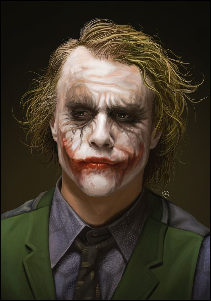 Heath Ledger's Joker by TovMauzer @deviantART