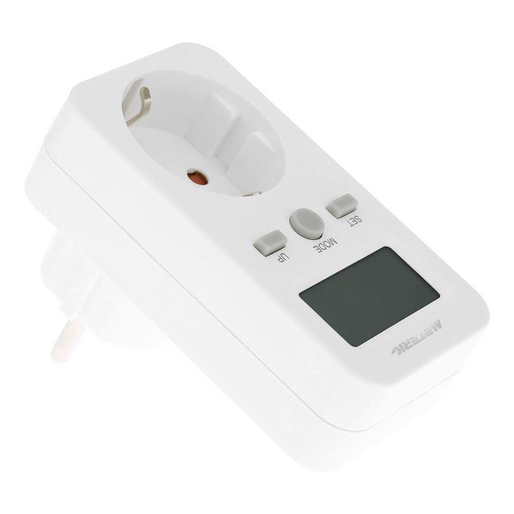 Meterk EU Plug Plug-in Digital LCD Energy Monitor Power Meter Sales Online eu - Tomtop.com