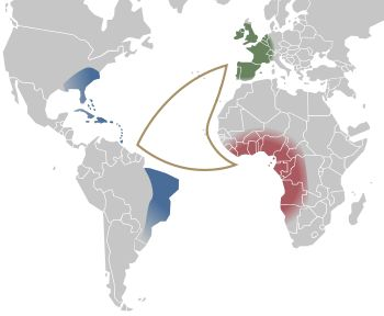 Middle Passage - Wikipedia, the free Encyclopedia the route from africa to America and from America to Europe