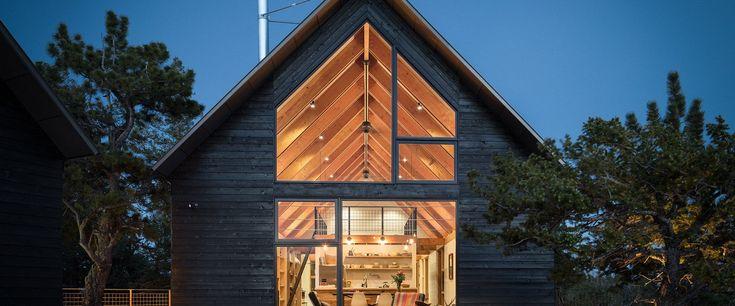 The Big Cabin | Little Cabin offers unique views of Colorado's Sangre de Cristo mountains.