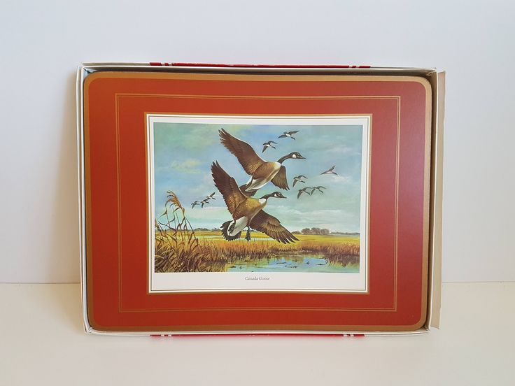 "Vintage Pimpernel Traditional Placemats ""American Wildfowl"" 4 Scenes by RetroEnvy21 on Etsy"