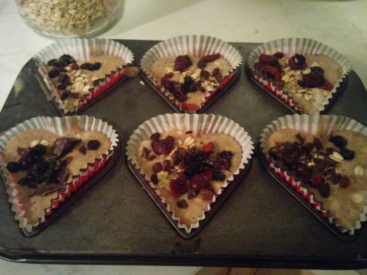 Healthy muffin - cranberry, oat, zea