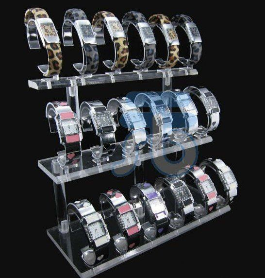 Acrylic Shop Store Retail Organizer Countertop Showcases Shelf Holder Jewerly Wrist Watch Rack Watches Display Stand-in Cases & Displays from Jewelry on Aliexpress.com