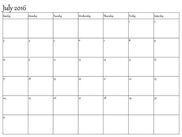blank printable monthly calendar