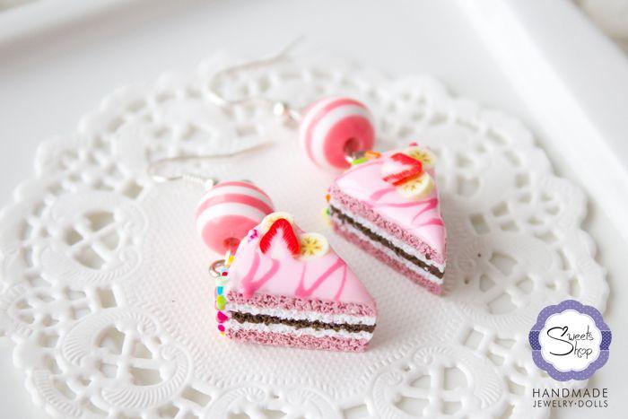 Серьги «Глазированный торт» |