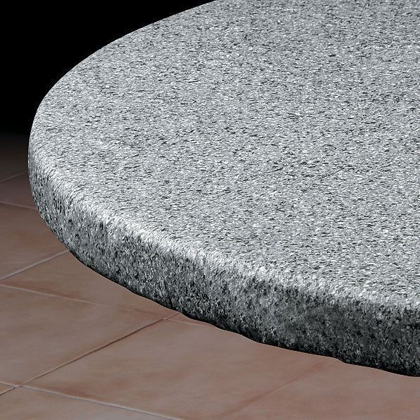 Gray Stone Round Elasticized Tablecloth Table Cover Vinyl Fitted Cover 36 46 Table Covers Table Cloth Round Table Covers