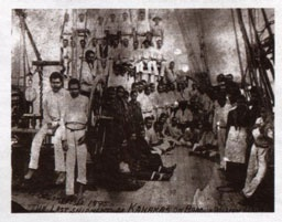 group of 'kanakas' is returned to the Solomon Islands, 1895