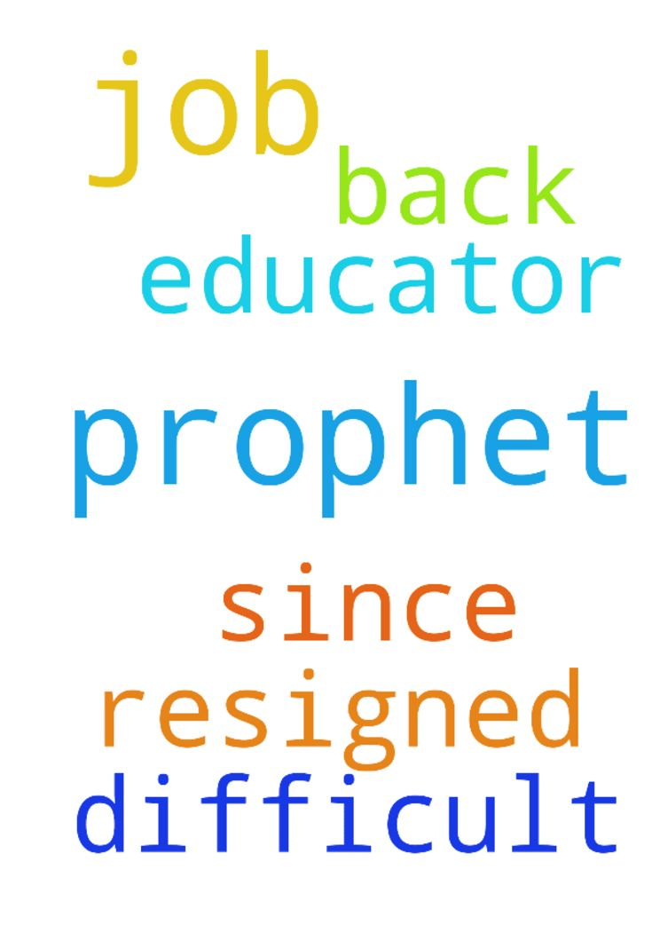 Dear prophet .could you please pray for me to get my - Dear prophet .could you please pray for me to get my job back .Its difficult to get my job as an educator since I resigned Posted at: https://prayerrequest.com/t/xUB #pray #prayer #request #prayerrequest