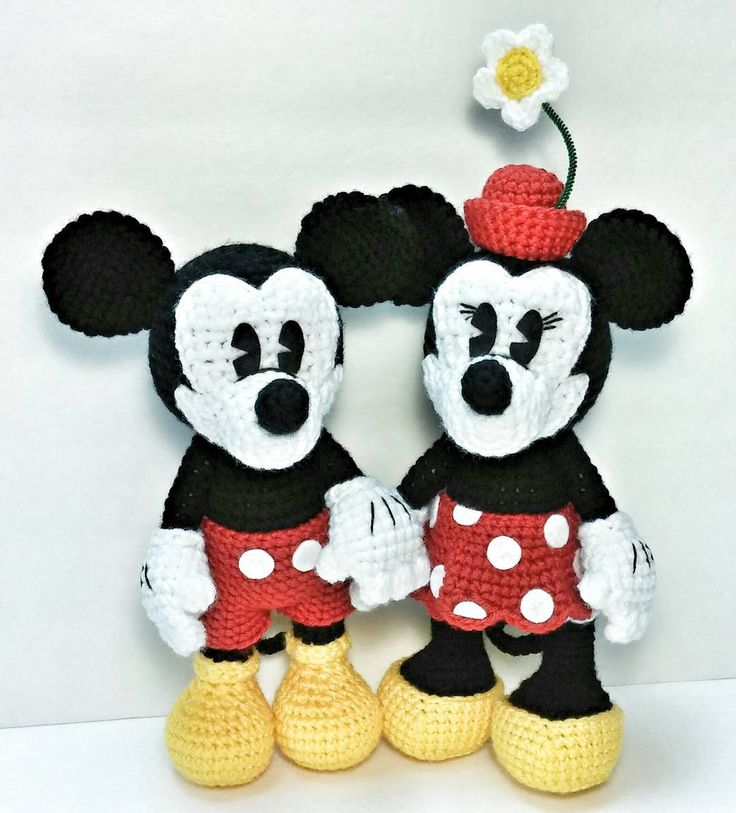 They are so cute together!  Sending them to their new home tomorrow #mickey #mickeymouse #minnie #minniemouse #mickeyandminnie #disney #disneycharacters #amigurumi #amigurumis #amigurumiaddict #amigurumimickey #amigurumiminnie #crochet #crocheted #crochetaddict #crochetmickey #crochetminnie #instacrochet #yarn #yarnaddict #crafty #craftymom #craftingisfun #crochetingisfun #handmade #handmadebyme #ilovewhatido #ilovecreating by forgottenfigments