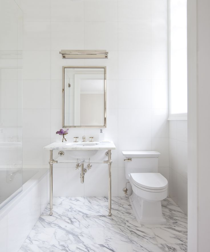 how to master the perfect white marble bathroom view upper east side apartment we paired statuary marble with pure white thassos and crystal and nickel