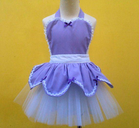 SOPHIA  Tutu apron for girls new dress up by loverdoversclothing, $32.00