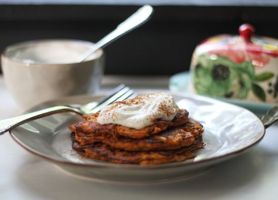 2-Ingredient Sweet Potato Pancakes - Skinny Ms.