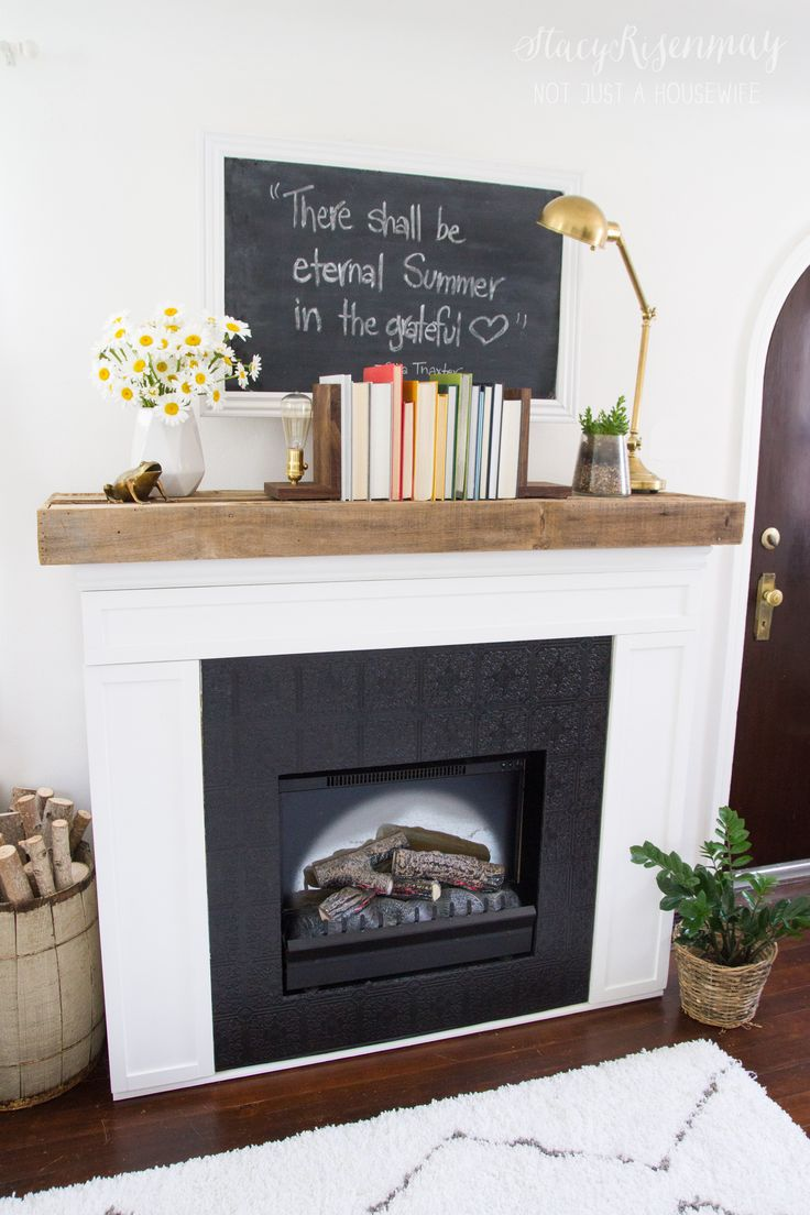 Fireplace Makeover written by Stacy at Not Just a Housewife Blog - 41 Best Images About Mantle On Pinterest Mantels, Mantles And