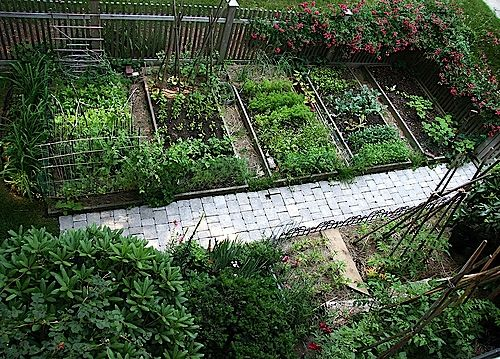 Beautiful front yard vegetable gardens with picket fence for Attractive vegetable garden fence