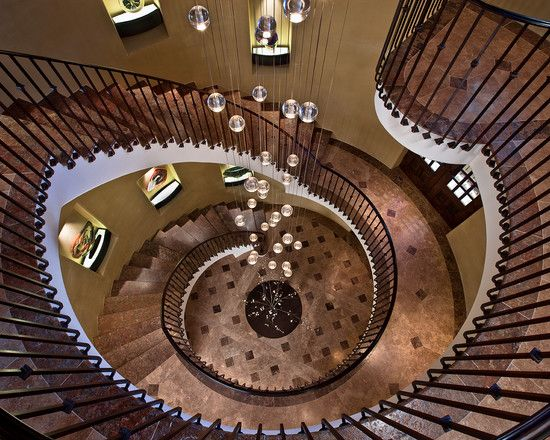 """""""Wow, what a staircase! Love the dark brown color, it add warmth....Very Captivating!"""""""