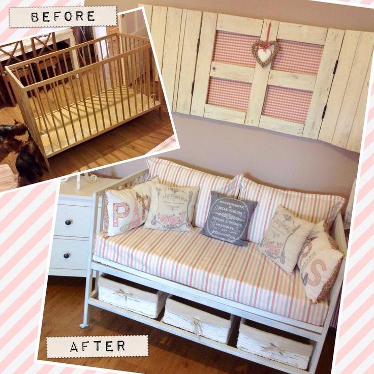 Reciclando una cuna vieja room - Fundas sofa leroy merlin ...