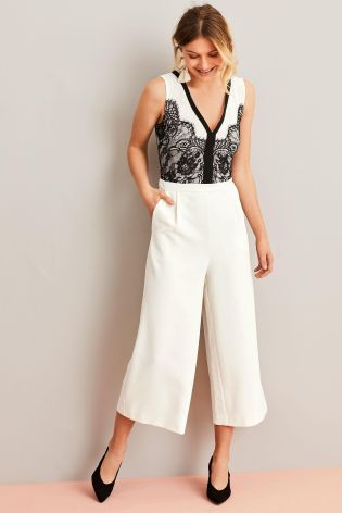 888f8ef87388 Buy Monochrome Contrast Lace Jumpsuit from the Next UK online shop ...