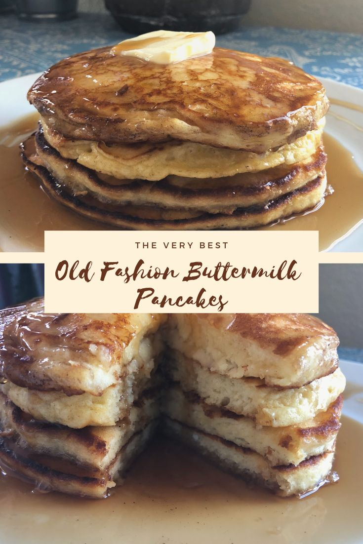 Old Fashion Buttermilk Pancakes Food Food Network Recipes Foodie