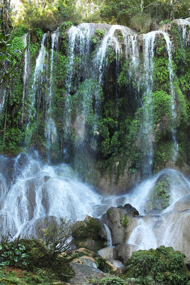 El Nicho waterfalls, past the town of Cienfuegos, Cuba.