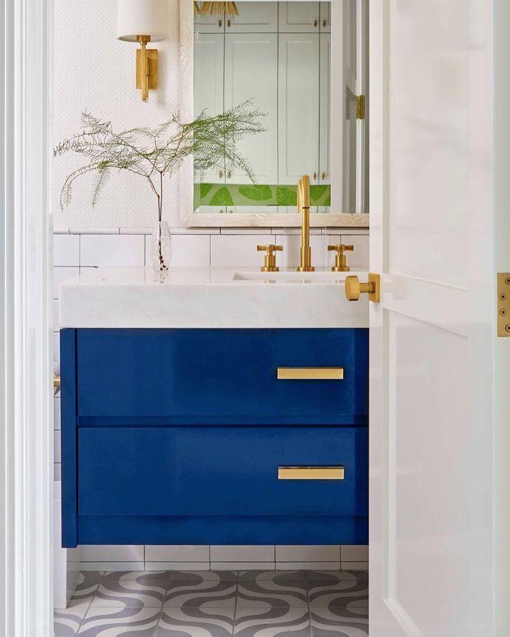 blue vanity clean bathrooms bathroom vintage bathroom rh pinterest com