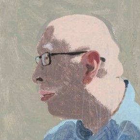 """Wang Yuping, """"Yue Xin's Portrait"""", oil pastel, acrylic, 42 x 61 cm, 2012"""