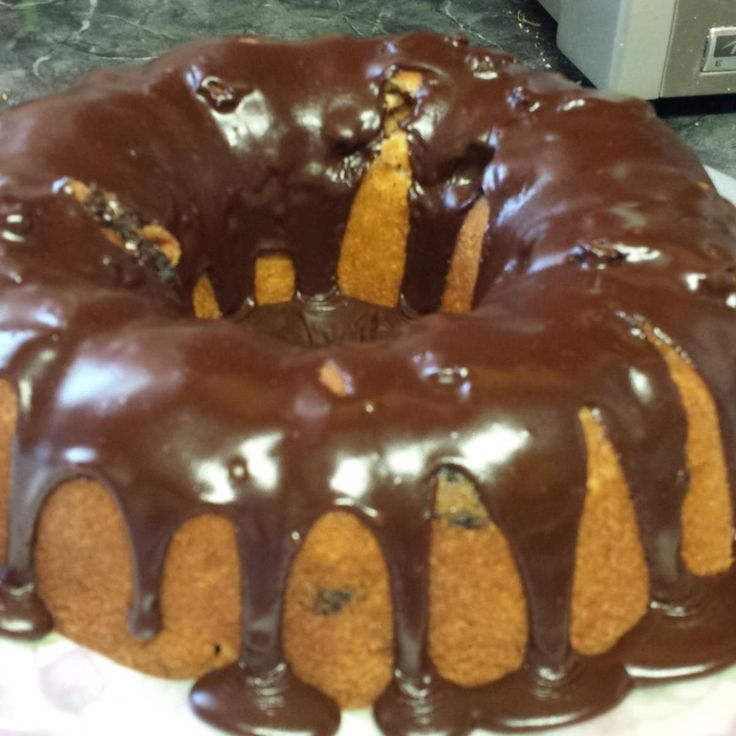 This glaze sets up nicely to drizzle over a bundt cake, and is very easy to put together. I usually have all the ingredients in my pantry.