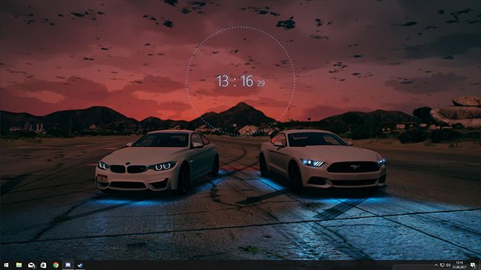 Bmw Ford Mustang Audio Visualizer And Clock Wallpaper Engine Ford Mustang Clock Wallpaper Mustang