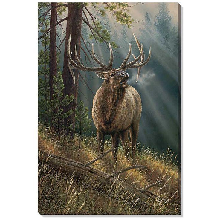 Elk canvas wall art calling all challengers