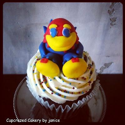 Rock Chalk cupcakeRockchalk