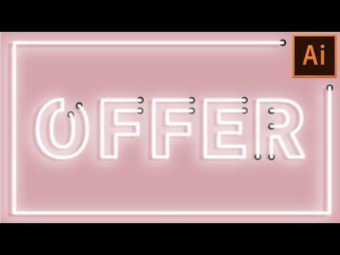 How to create Neon Tubes Sign in Illustrator | Adobe Illustrator Tutorial - YouTube
