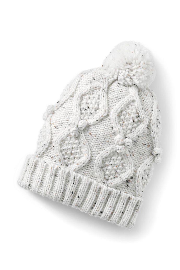 Women s Aran Popcorn Knit Beanie from Lands  End  497f25183a05