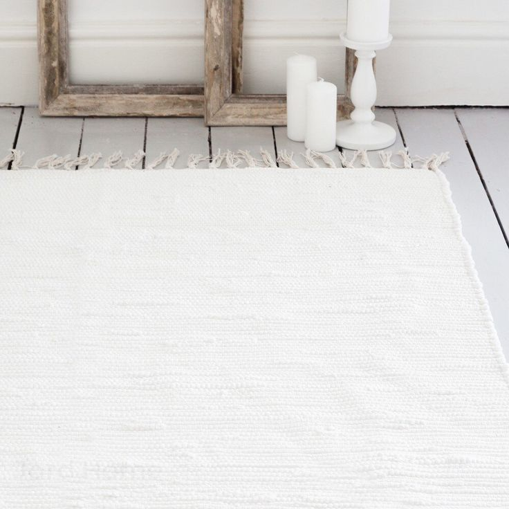Ivory White Rug Handwoven Cotton The Aira