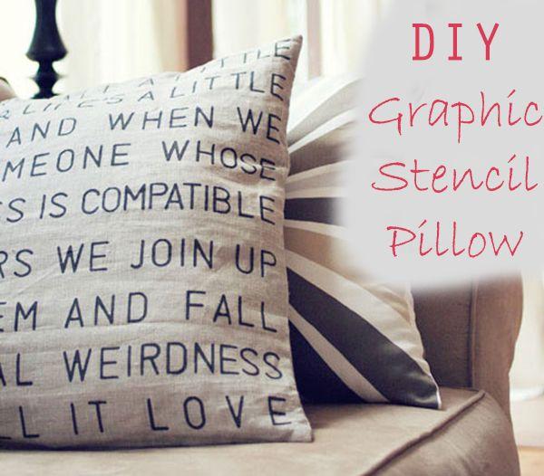 DIY Graphic Stencil Pillow