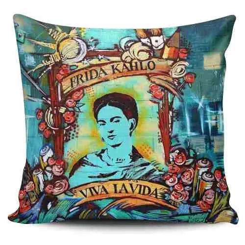 Cojin Decorativo Tayrona Store Frida Kahlo 06 - $ 43.900
