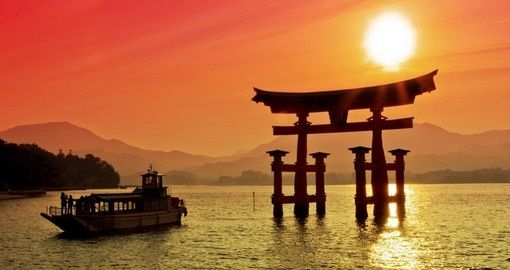 Sunset view of Torii Gate | Japan