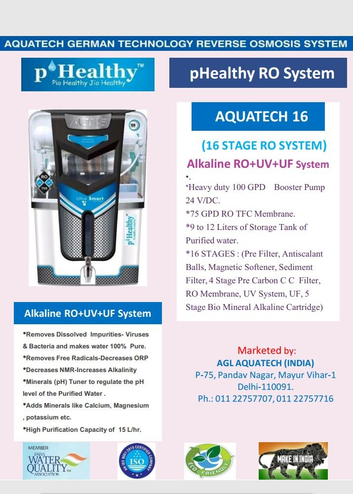 'pHealthy' RO Systems provide the highest level of purity