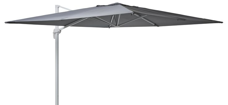 Stort och fyrkantigt frihängande parasoll som tack vare sitt smarta stativ kan stå vid sidan och ändå ge skugga på rätt plats. Det är enkelt att fälla upp och ner med ett handgrepp. Parasollet har luftutsläpp så att det inte fylls av luft när det blåser, och är 300x300 cm stort. Förankra Arezzo med fyra stycken Arezzo sten, som finns att köpa till.