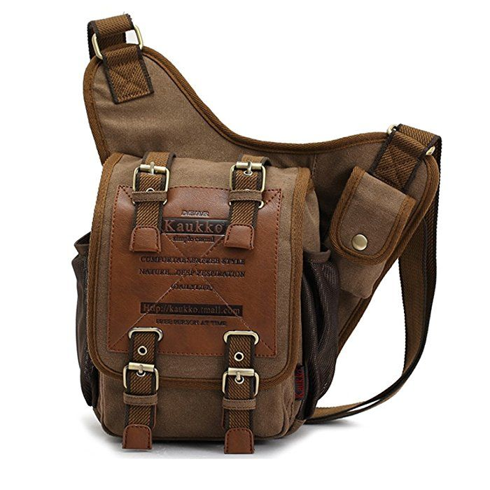 Neu Herren Damen Vintage Canvas Rucksack Retro Rucksack Tasche Männer Männlich Jungen Triangle Bag Brusttasche Klassische Einzel Schulter Umhängetasche