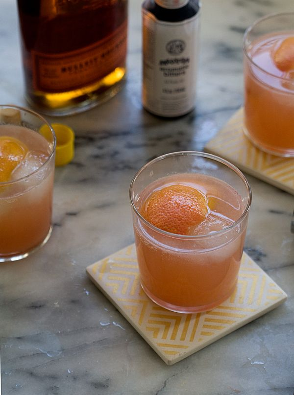 Grapefruit Old Fashioned - with bourbon and sage syrup // www.acozykitchen.com