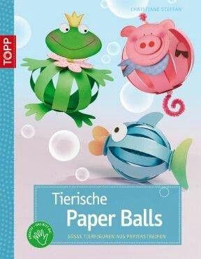 Bolas de papel de animales