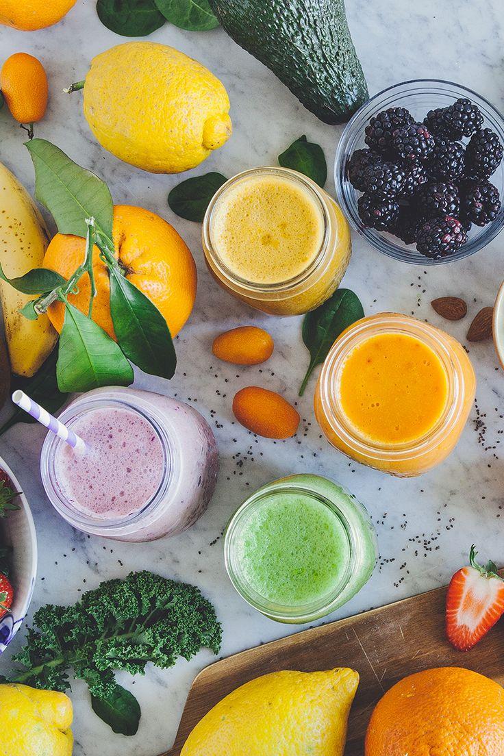 L'arcobaleno dei succhi, ovvero proprietà di frutta e verdure in base ai colori