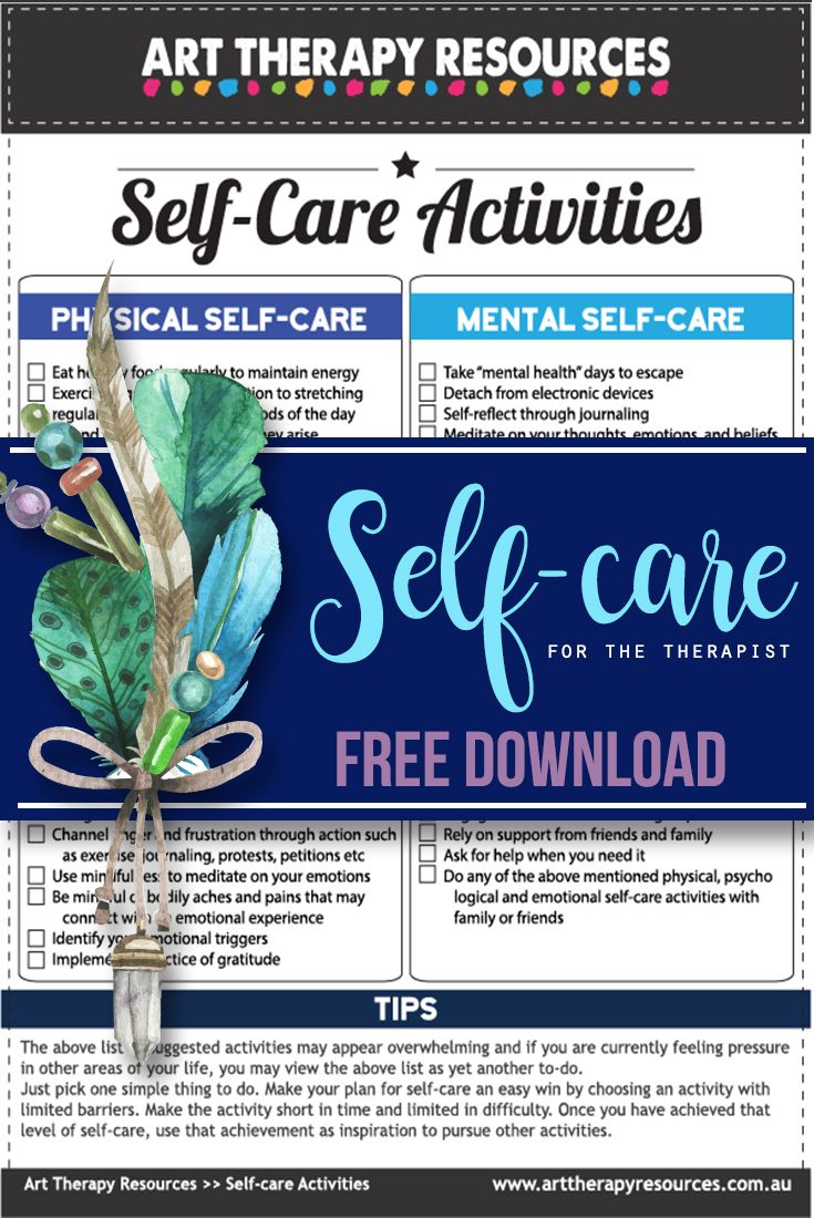 Self Care For The Art Therapist Therapy Worksheets Self Care