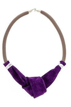 Statement Necklace  Purple Knotted Leather and by EleannaKatsira, €54.00