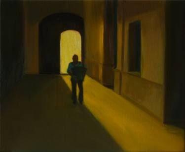 "Saatchi Art Artist Marta Zamarska; Painting, ""Accordion Scene (inspired by ""Holy Motors"" movie)"" #art"