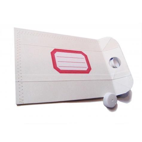 Melkpak omgetoverd tot envelope! Voor waterdichte post!