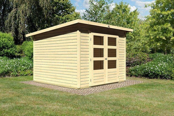 KARIBU Gartenhaus »Stakkato 4«, BxT: 246x246 cm, 19 mm, natur für 699,99€. Aus nordischem Fichtenholz, Steck- und Schraubsystem bei OTTO